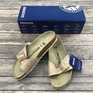 New Birkenstock Madrid Sandals in Rose Gold